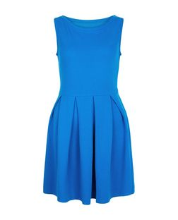 Apricot Blue Pleated Sleeveless Dress | New Look