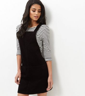Product photo of Black cord pinafore dress