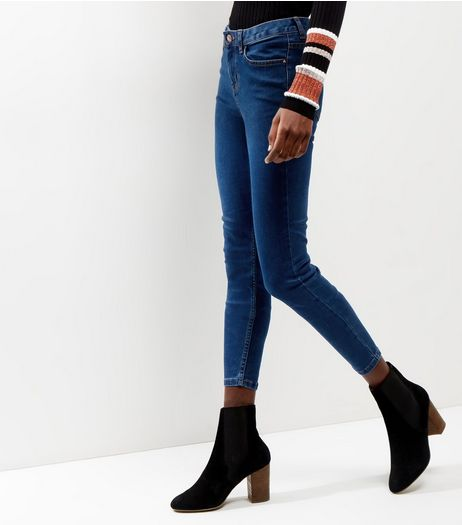 Blue Supersoft Super Skinny India Jeans  | New Look