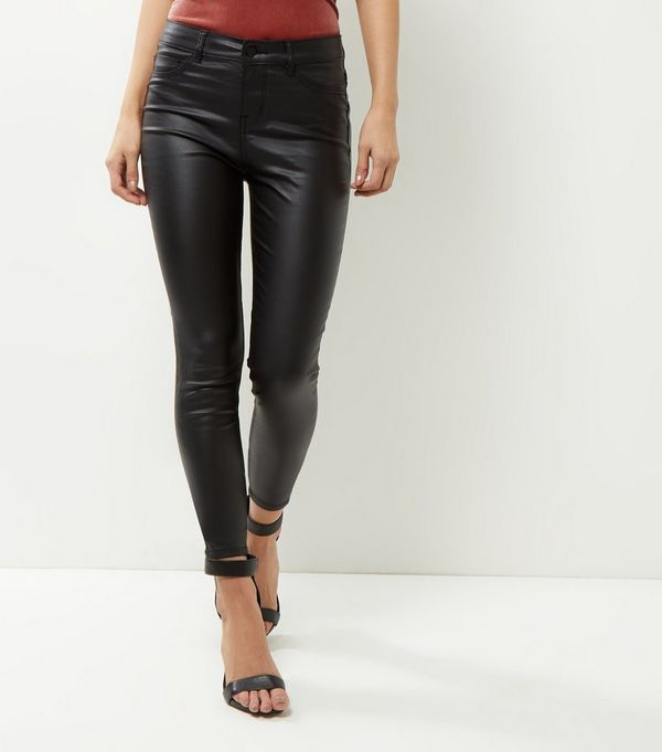 Black Coated Supersoft Super Skinny Jeans