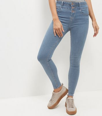 Light Blue High Waist Skinny Jeans