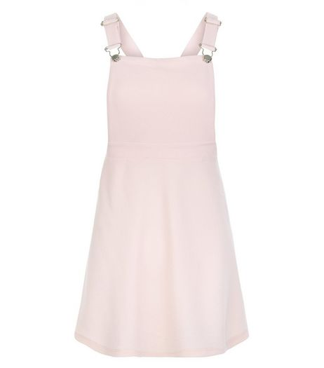 Teens Pink Cross Strap Pinafore Dress | New Look