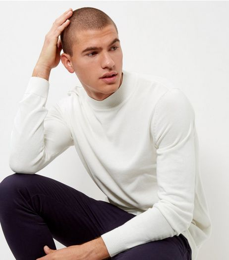 Winter White Long Sleeve Turtle Neck Jumper | New Look