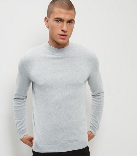 Silver Long Sleeve Turtle Neck Jumper | New Look