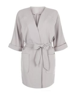 Cameo Rose Grey Kimono Sleeve Jacket | New Look