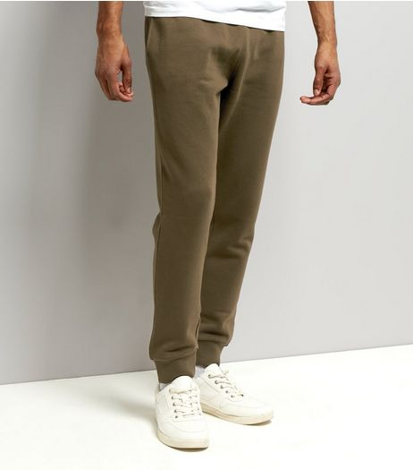Khaki Basic Joggers | New Look
