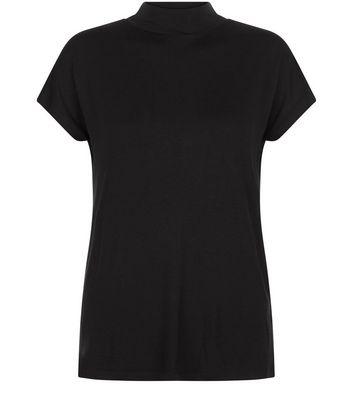 Black Funnel Neck T-Shirt