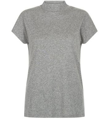 Grey Funnel Neck T-Shirt