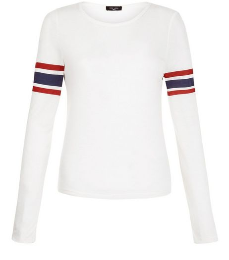 Tall White Stripe Long Sleeve Top | New Look