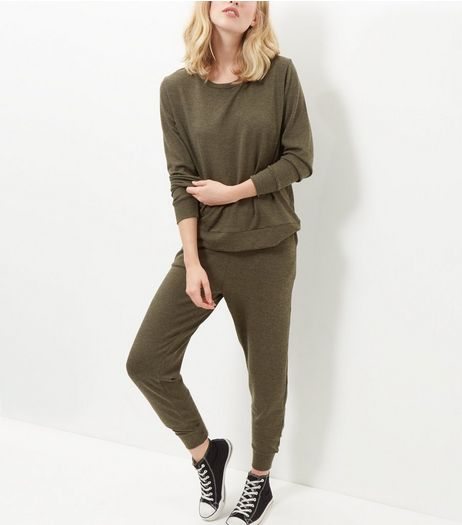 Tall Khaki Long Sleeve Sweater  | New Look