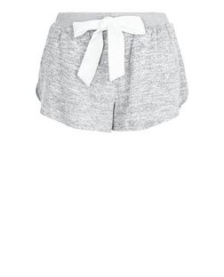 Pale Grey Drawstring Pyjama Shorts | New Look