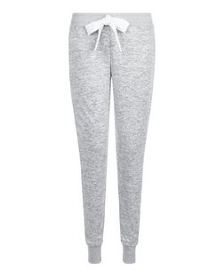 Pale Grey Drawstring Pyjama Bottoms  | New Look
