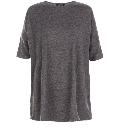 Grey Marl Oversized T-Shirt | New Look