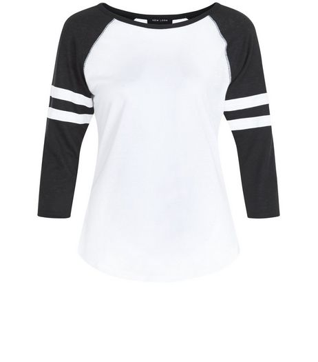 Petite White Raglan Top | New Look