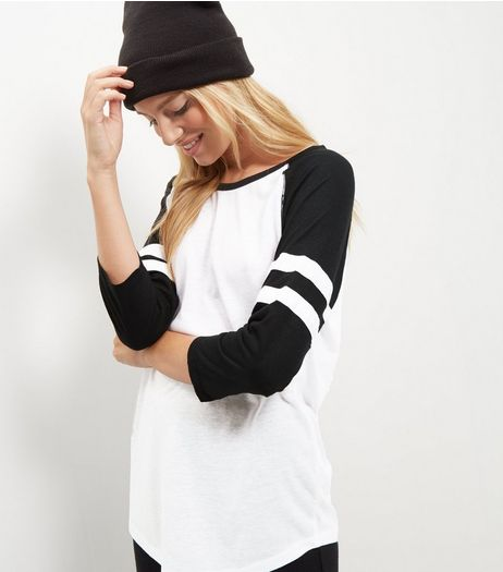 Tall White Raglan Top | New Look