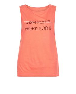 Pink Wish For It Print Sports Tank Top | New Look