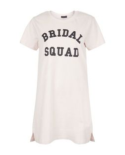 Pink Bridal Squad Print Nightshirt | New Look