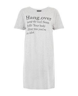 Tall Grey Hangover Definition Print Nightshirt | New Look