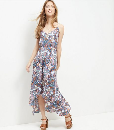 Mela White Paisley Print Maxi Dress | New Look