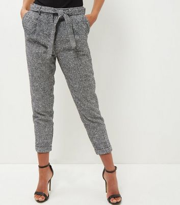 Black Flecked Suit Trousers