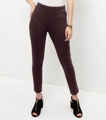 Burgundy Slim Leg Suit Trousers