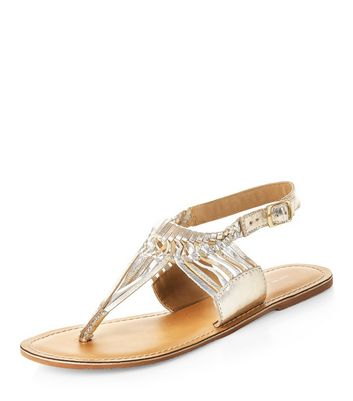 gold-leather-twisted-strap-sandals