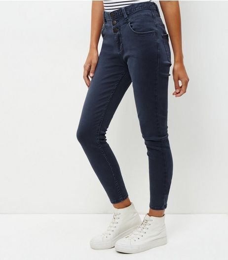 Grey High Waist Skinny Jeans  | New Look