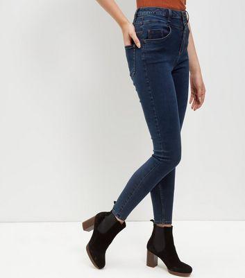 Navy High Waist Skinny Jeans
