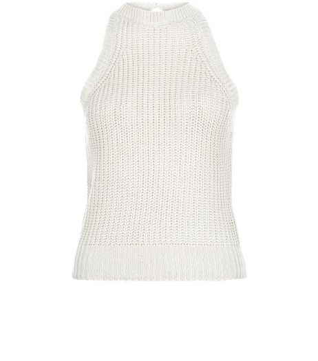 Apricot Stone Knitted Sleeveless Top | New Look