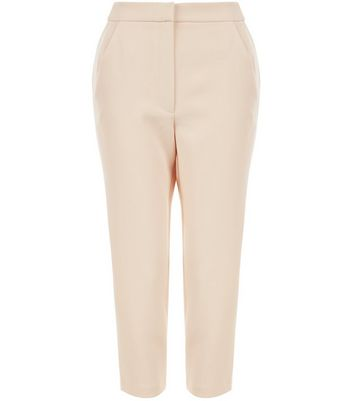 Petite Shell Pink Contrast Stripe Side Trousers