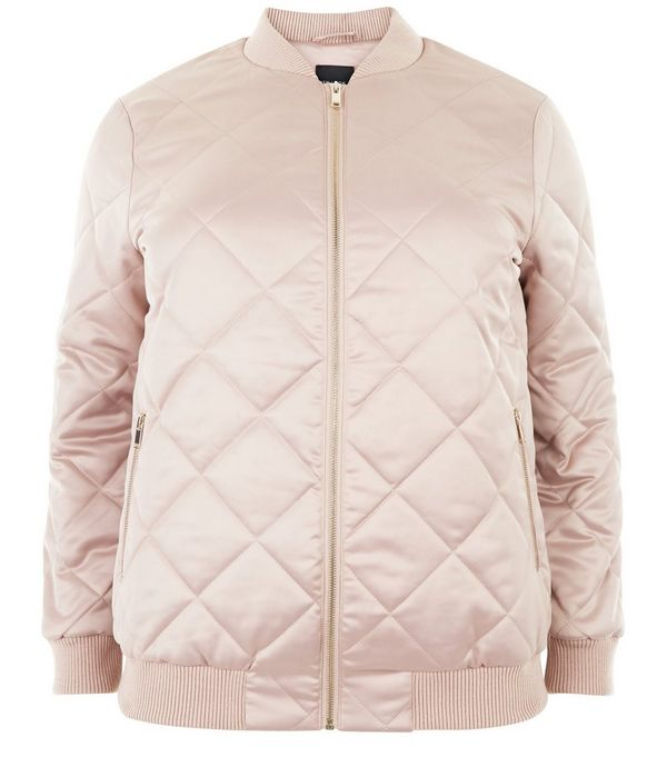Quilted coat new look
