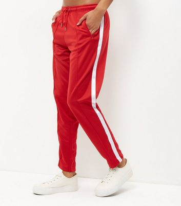 Red Stripe Side Joggers