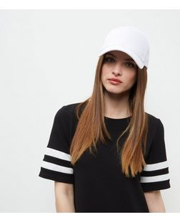 White Baseball Cap | New Look