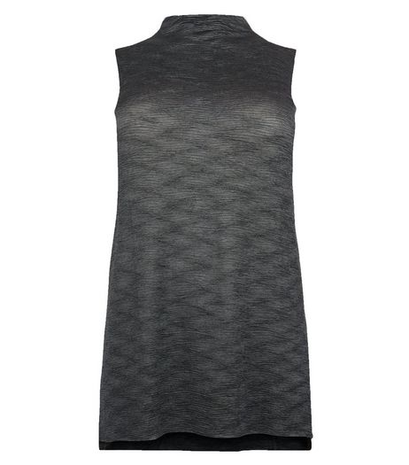Curves Grey Sleeveless Pleated Top | New Look