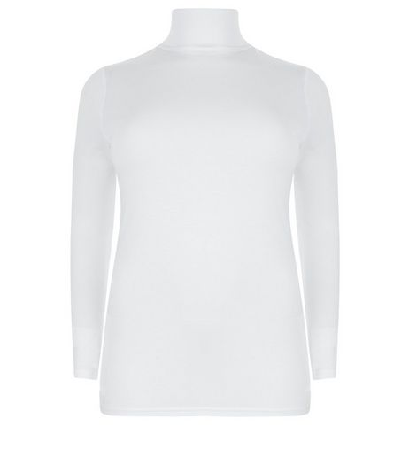 White Long Sleeve Roll Neck Sweater | New Look