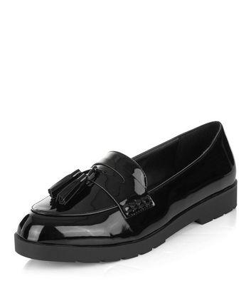 Mocassini  donna Black Patent Loafers