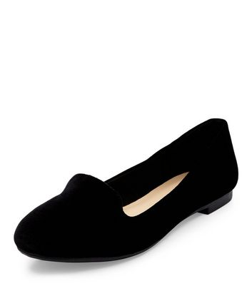 Mocassini  donna Black Velvet Slipper Shoes