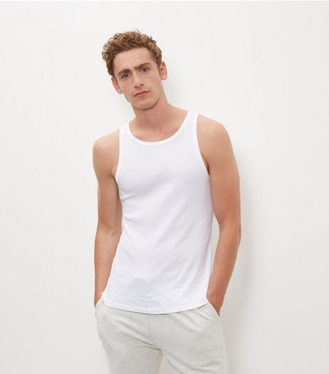 White Ribbed Vest  | New Look