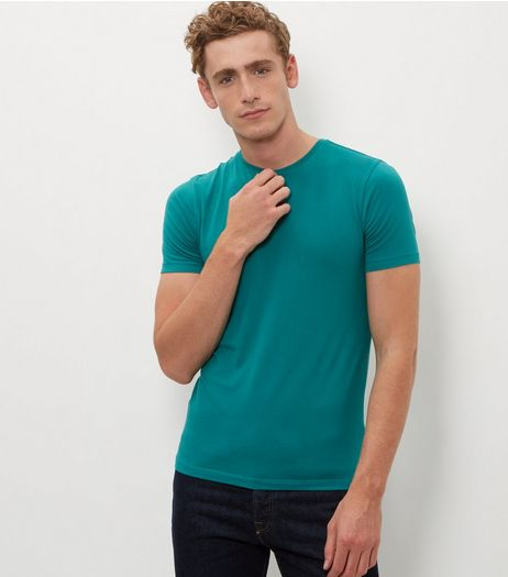 Green Cotton Mix T-Shirt  | New Look