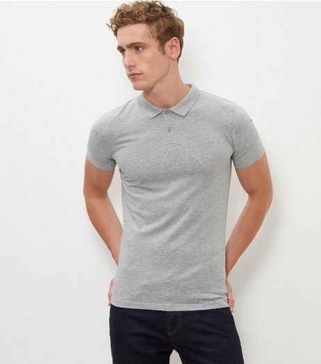 Grey Short Sleeve Polo Shirt | New Look