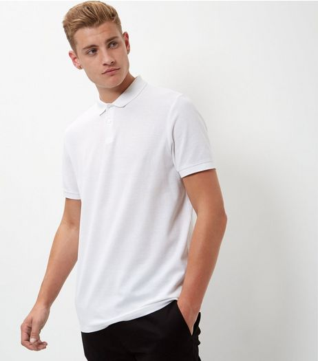 White Short Sleeve Polo Shirt | New Look