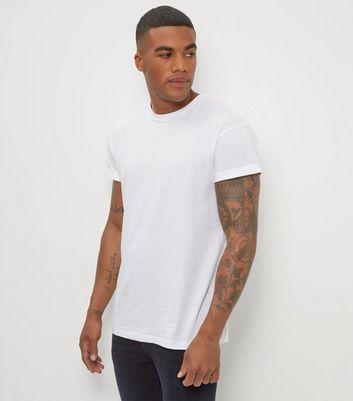 White Roll Sleeve T-Shirt