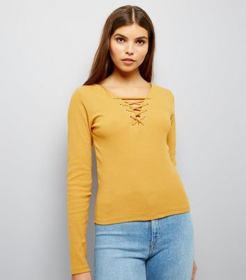 Yellow Lattice Front Top