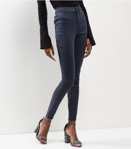 Grey High Waist Super Skinny Hallie Jeans  | New Look