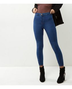 Blue High Waist Superskinny Jeans | New Look