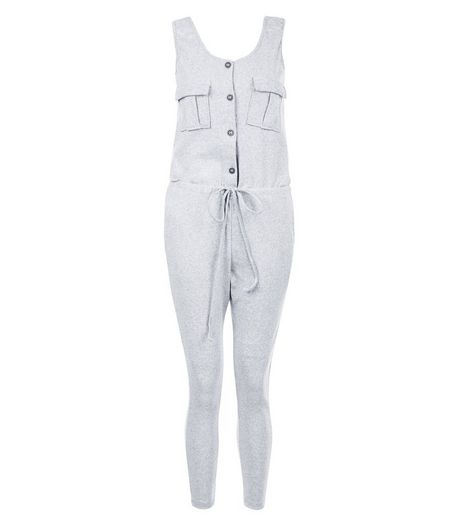 Loving This Pale Grey Sleeveless Jumpsuit | New Look