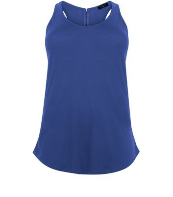 Curves Blue Zip Back Vest