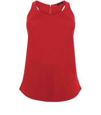 Curves Red Zip Back Vest