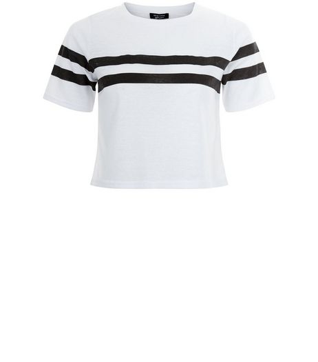 Teens White Stripe Crop Top | New Look