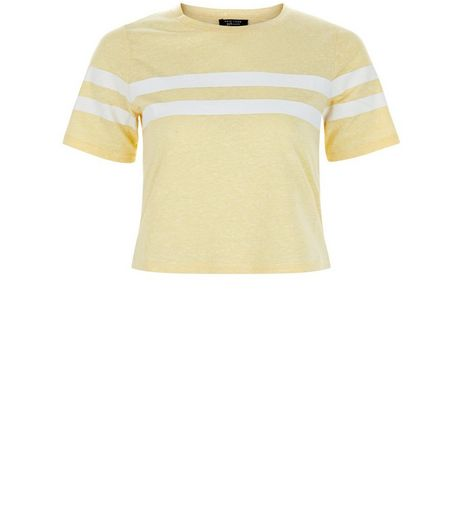 Teens Yellow Stripe Crop Top | New Look